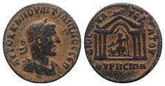 Ancient Coins - Philip I (244-249). Cyrrhestica, Cyrrhus. Æ 28mm. R/ Hexastyle temple