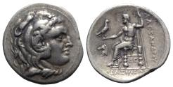 Ancient Coins - Kings of Macedon, Demetrios I Poliorketes (306-283 BC). AR Tetradrachm. In the name and types of Alexander III. Corinth, c. 304/3-290 BC.