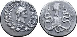 Ancient Coins - Marc Antony and Octavia AR Cistophoric Tetradrachm of Ephesus, Ionia. Circa 39 BC.