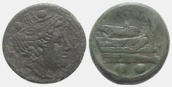 Ancient Coins - ROME REPUBLIC Anonymous, Rome, 217-215 BC. Æ Sextans (30mm, 19.57g)