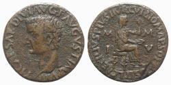 Ancient Coins - ZEUGITANA, Utica. Tiberius. AD 14-37. Æ Dupondius. Vibius Marsus, proconsul for the third year. Sex. Tadius Faustus, duovir. Struck AD 29-30.