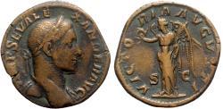 Ancient Coins - Severus Alexander (222-235). Æ Sestertius - Rome - R/ Victory