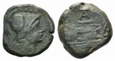 Ancient Coins - AT or TA series, Rome, c. 169-158 BC. Æ Triens