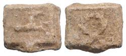 Ancient Coins - Roman PB Tessera, c. 1st century BC - 1st century AD. Horse R/ Wreath