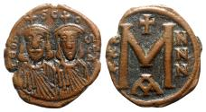 Ancient Coins - Leo III and Constantine V (717-741). Æ 40 Nummi - Constantinople