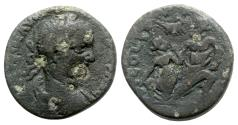 "Ancient Coins - Elagabalus (218-222). Phoenicia, Berytus. Æ - R/ ""Rape of Beroe"" - RARE AND INTERESTING"