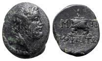 Ancient Coins - Cilicia, Mopsos, 164-27 BC. Æ - Zeus / Altar