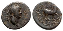 Ancient Coins - Claudius (41-54). Caria, Cidrama. Æ - Polemon, son of Seleukos, magistrate