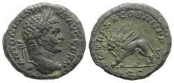 Ancient Coins - Caracalla (198-217). Æ As. Rome, AD 217. R/ LION
