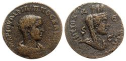 Ancient Coins - Philip II (Caesar, 244-247). Seleucis and Pieria, Antioch. Æ 8 Assaria - R/ Tyche