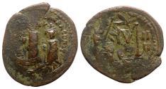 Ancient Coins - Heraclius and Heraclius Constantine (610-641). Æ 40 Nummi - Constantinople, year 4