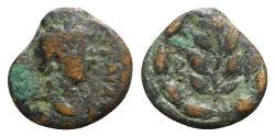 Ancient Coins - Hadrian (117-138). Cyrrhestica, Beroea. Æ - R/ Laurel branch