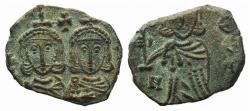 Ancient Coins - Constantine V (741-775). Æ 40 Nummi. Syracuse, 757-775.