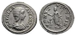 Ancient Coins - Plautilla (Augusta, 202-205). AR Denarius - R/ Venus