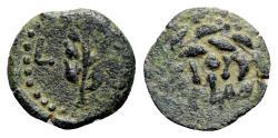 Ancient Coins - Judaea, Procurators. Valerius Gratus, 15-26 CE. Æ Prutah