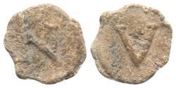 Ancient Coins - Roman PB Tessera, c. 1st century BC - 1st century AD. Large L. R/ Large S