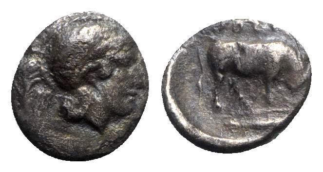 Ancient Coins - Southern Lucania, Thourioi, c. 443-400 BC. AR Triobol