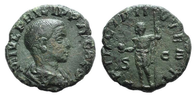 Ancient Coins - Philip II (Caesar, 244-247). AE As. Rome, 246.