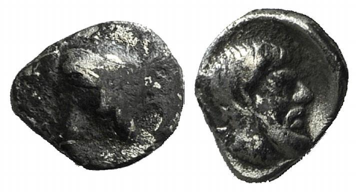 Ancient Coins - Caria, Euromos, 5th century BC. AR Hemiobol