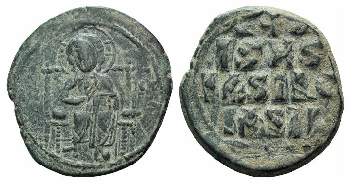 Ancient Coins - Anonymous Folles. Time of Constantine IX, circa 1042-1055. Æ Follis