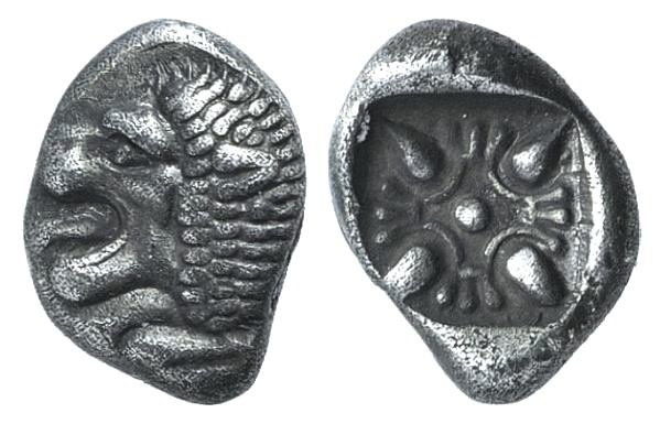 Ancient Coins - IONIA, Miletos. Late 6th-early 5th century BC. AR Obol
