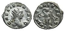 Ancient Coins - Gallienus (253-268 AD).  Antoninianus. Roma (Rome), c. 264-5 AD. R/ VICTORIA AET, Victory EXCEPTIONAL QUALITY