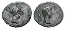 Ancient Coins - Kings of Thrace, Rhoemetalkes I and Augustus (11 BC-12 AD). Æ 18mm.
