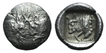 Caria, Uncertain, c. 5th century BC. AR Tetartemorion