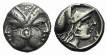 Ancient Coins - MYSIA, Lampsakos. 4th century BC. AR Diobol