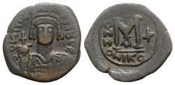 Ancient Coins - Maurice Tiberius (582-602). Æ 40 Nummi. Nicomedia, year 10 (591/2).