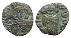 Ancient Coins - Constantine V with Leo IV (741-775). Æ 40 Nummi - Syracuse