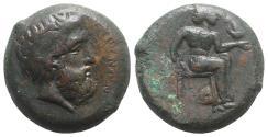 Ancient Coins - Sicily, Petra, 354/3-344 BC. Æ Litra VERY RARE