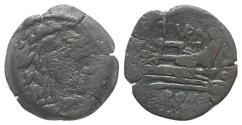 Ancient Coins - ROME REPUBLIC Papirius Turdus, Rome, 169-158 BC. Æ Quadrans RARE