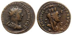 Ancient Coins - Philip I (244-249). Seleucis and Pieria, Antioch. Æ 8 Assaria - R/ Tyche head