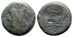 Ancient Coins - Bird and rudder series, Rome, 206-195 BC. Æ As