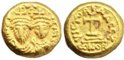 Ancient Coins - Heraclius (610-641). GOLD Solidus. Carthage mint.