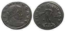Ancient Coins - Maximinus II (309-313). Æ Follis. Thessalonica, 310-1. R/ Genius