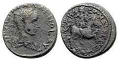 Ancient Coins - Gallienus (253-268). Bithynia, Nicomedia. Æ - R/ Emperor on horseback - RARE