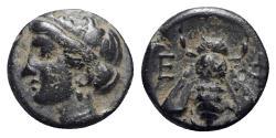Ancient Coins - Ionia, Ephesos, c. 375 BC. Æ - Female / Bee