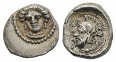 Ancient Coins - Cilicia, Tarsos. Pharnabazos (380-374/3 BC). AR Obol, c. 380 BC. NICE !!