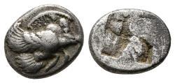 Ancient Coins - IONIA, Klazomenai. Circa 480-400 BC. AR Diobol