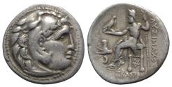 Ancient Coins - Kings of Thrace, Lysimachos (305-281 BC). AR Drachm. In the types of Alexander III of Macedon. Kolophon, c. 299/8-297/6 BC.