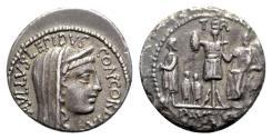 Ancient Coins - L. Aemilius Lepidus Paullus, Rome, 62 BC. AR Denarius