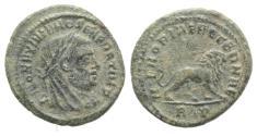 Ancient Coins - Divus Maximianus. Died AD 310. Æ Fracitonal Follis R/ LION RARE