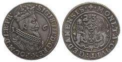 World Coins - Poland, Danzig. Sigismund III (1587-1632). AR Ort – 1/4 Taler 1623