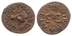 Ancient Coins - Augustus (27 BC-AD 14). Æ Quadrans. Rome; Lamia, Silius and Annius, moneyers, 9 BC.