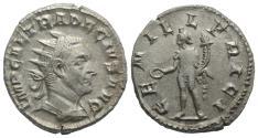 Ancient Coins - Trajan Decius (249-251). AR Antoninianus. Mediolanum, 250-1. R/ GENIUS