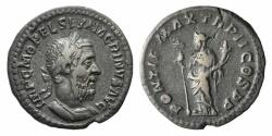 Ancient Coins - Macrinus. AD 217-218. AR Denarius. Rome mint. 2nd emission, AD 217-218. R/ FELICITAS