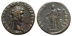 Ancient Coins - Nerva (96-98). Æ As - Rome - R/ Fortuna