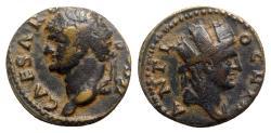 Ancient Coins - Domitian (81-96). Seleucis and Pieria, Antioch. Æ - R/ Tyche